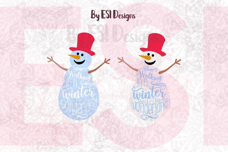 Snowman - Walking in a Winter Wonderland. example image 1