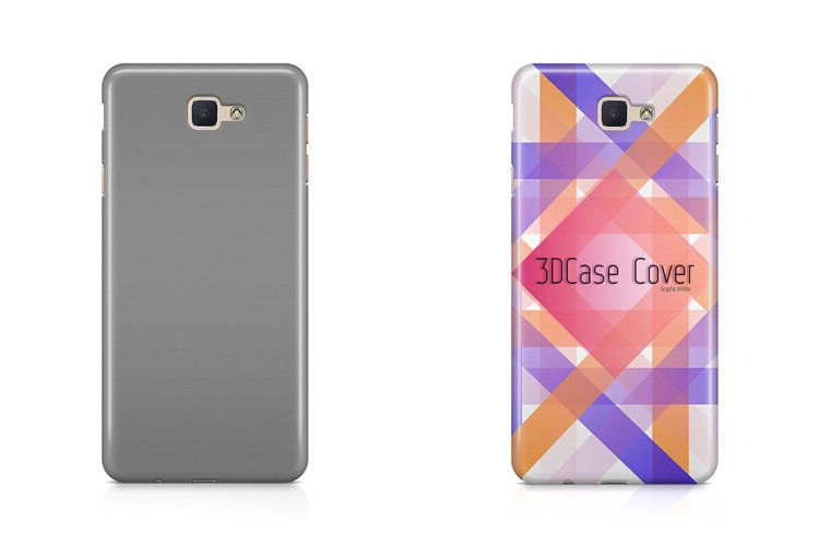 Samsung Galaxy J7 Prime 3d Case Design Mockup Back View example image 1