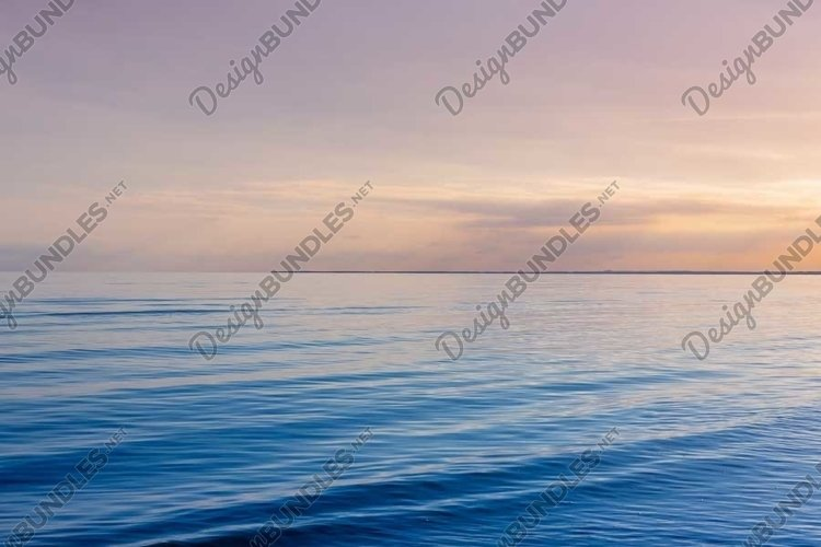 Beautiful light sunset over Baltic sea. example image 1