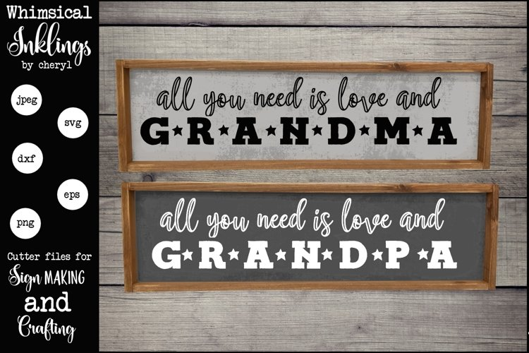 Grandma and Grandpa SVG Set example image 1