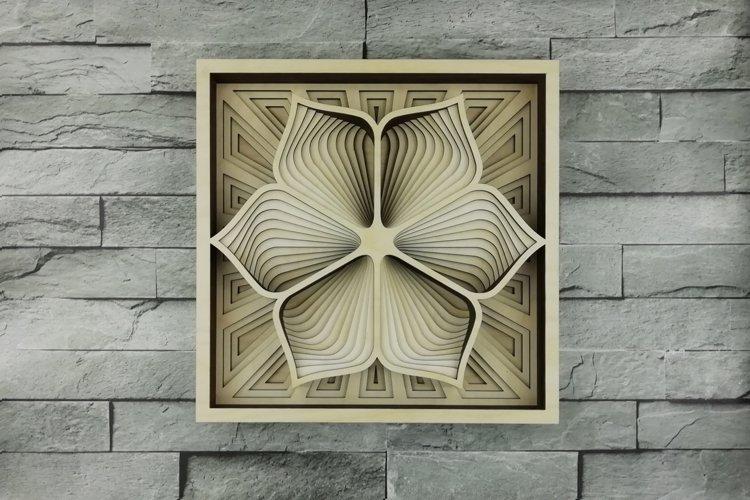 Layered Mandala SVG, Laser cut file Mandala, 3D Flower example image 1