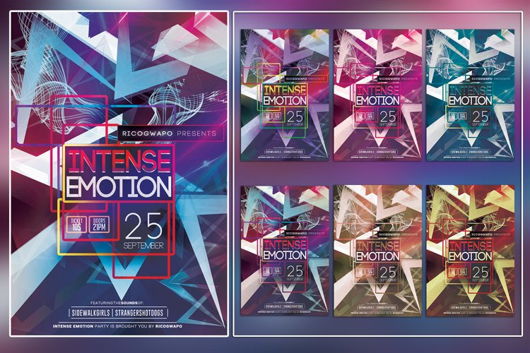 Intense Emotion Flyer Template example image 1