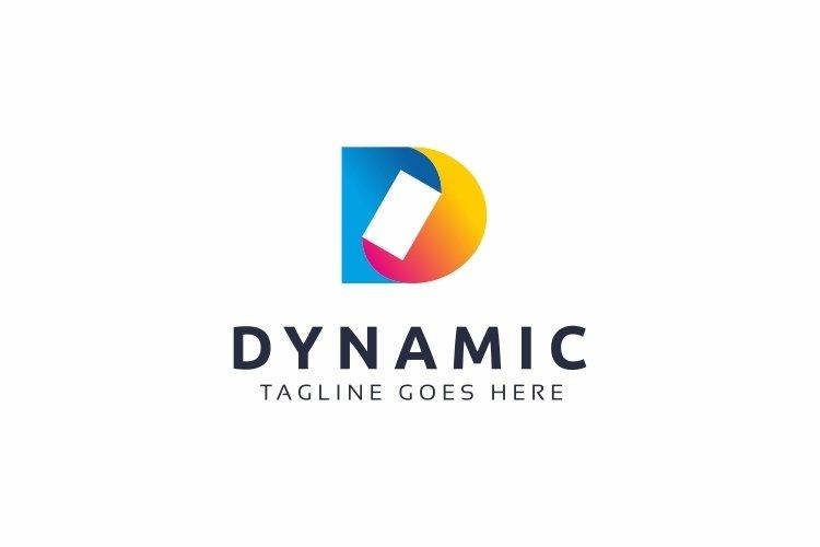 Dynamic D Letter Logo example image 1