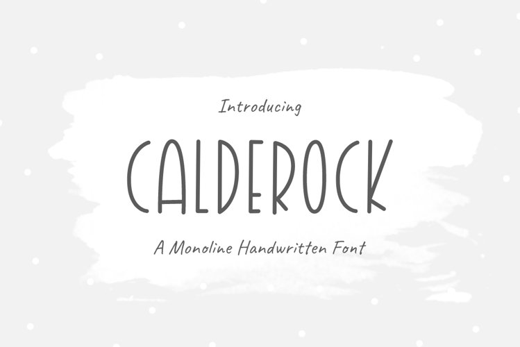 Calderock |Monoline - Handwritten Font example image 1