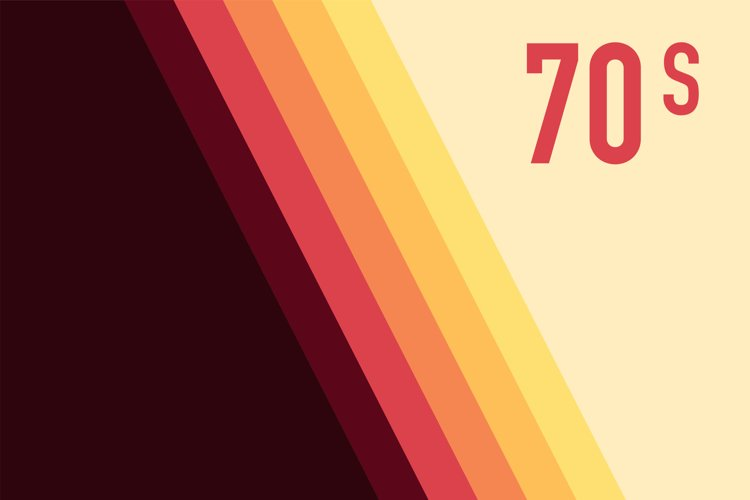 70s, 1970 abstract vector stock retro lines