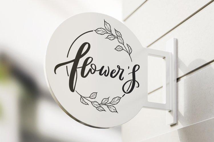 Set of floral logos