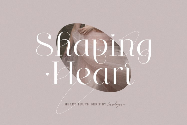 Shaping Heart - Lovely Serif example image 1