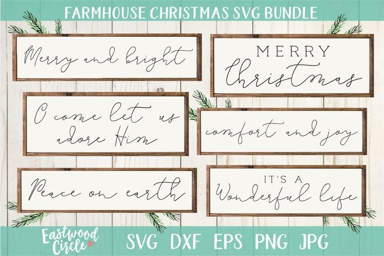 Farmhouse Christmas SVG Bundle - Christmas Cut Files example image 1