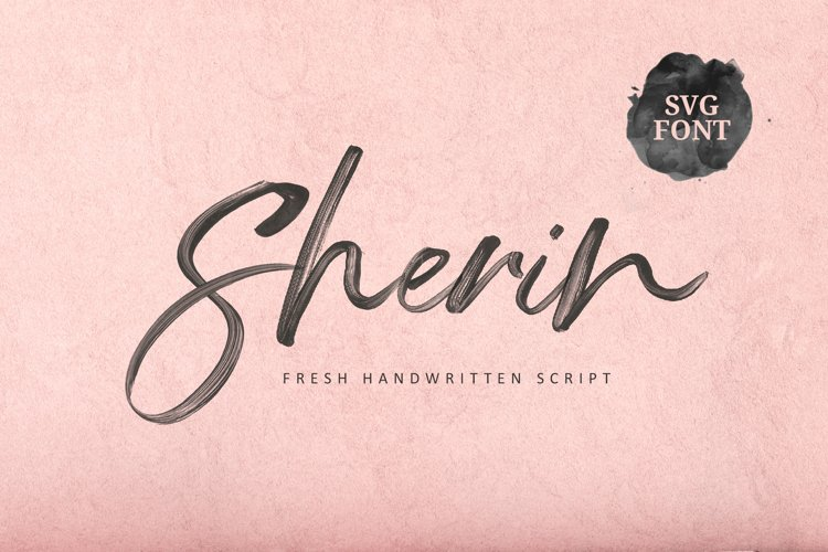 Sherin SVG Font example image 1