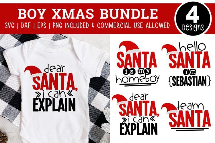 Boy Christmas SVG Bundle - Christmas SVG Files