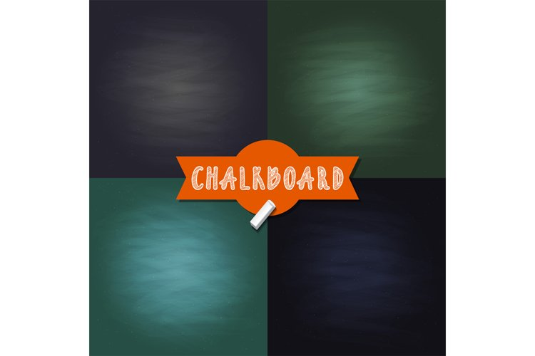 Vector set of blank chalkboard texture backgrounds with diff example image 1