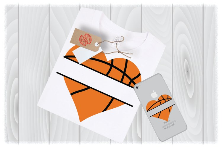 Half Basketball SVG Files for Cricut Designs | Sport SVG example image 1