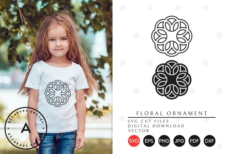 Floral Ornament SVG Cut Files example image 1