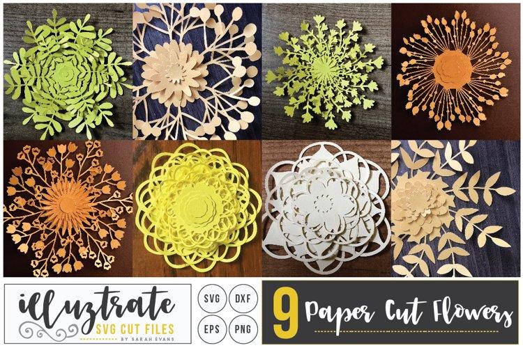Paper Cut Flowers SVG Cut File - Paper Cutting Bundle DIY - Free Design of The Week Font