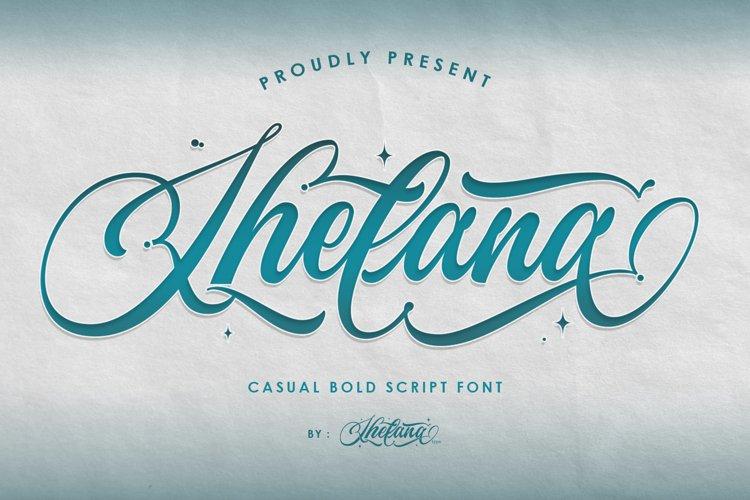 Shelana Casual Bold Script example image 1