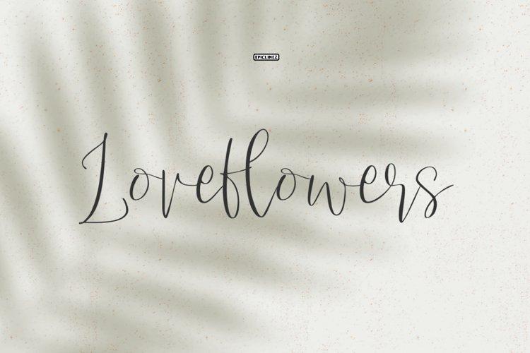 Love Flowers Script Font example image 1