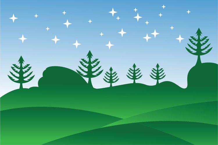 mountain landscape vector illustration example image 1