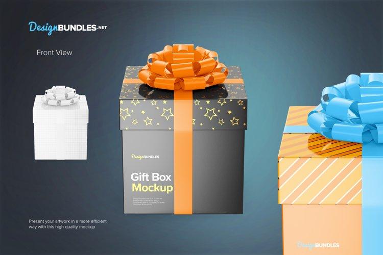Gift Box Mockups example 1