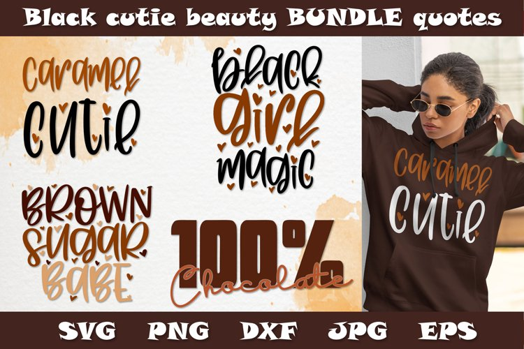 Black girl bundle SVG PNG DXF quotes for Black history month