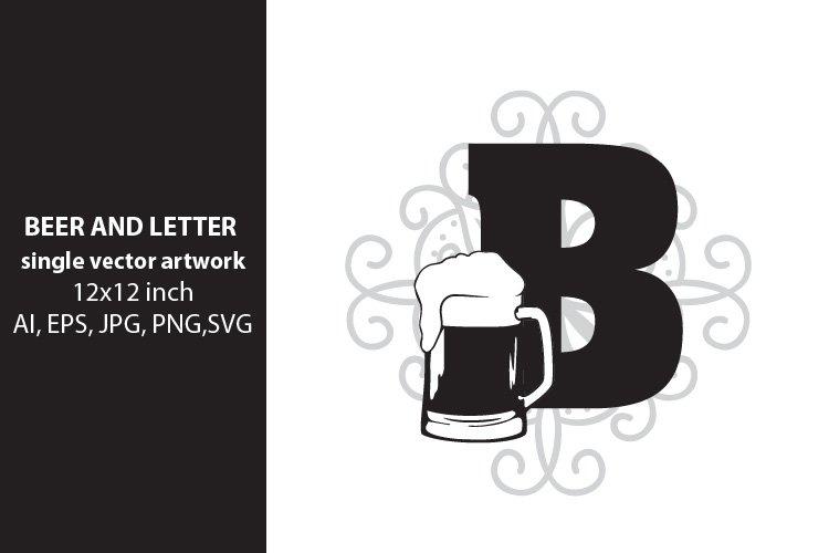 Beer, monogram letter B example image 1
