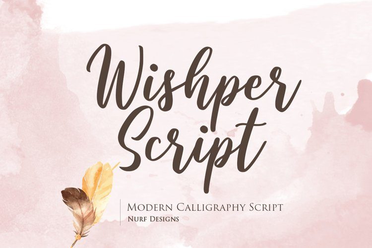 Wishper Script - Web Font example image 1