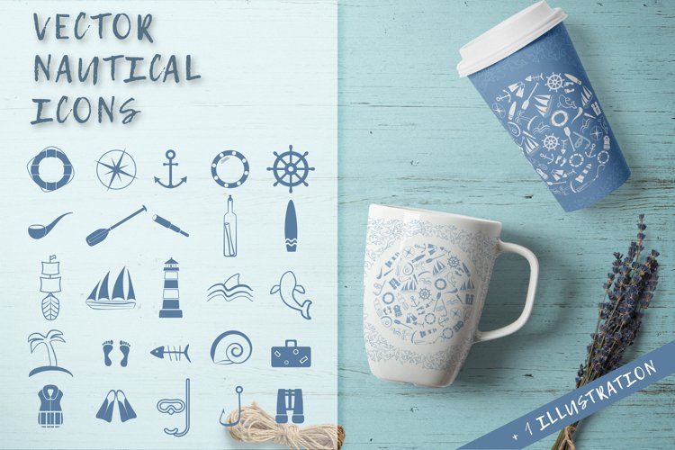 Vector nautical icons.