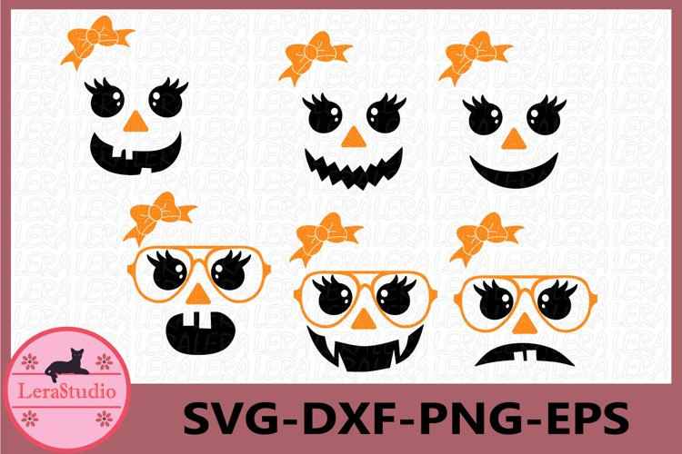 Cute ghost Faces Svg, Cute Faces Svg, Halloween Clipart example image 1