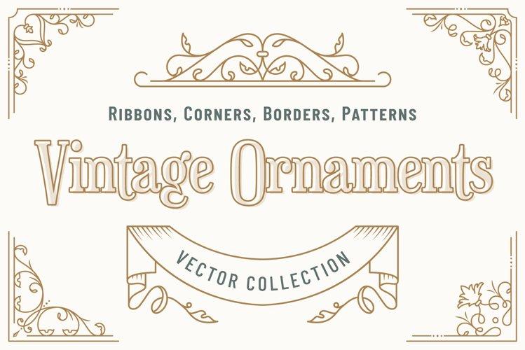 Vintage Ornaments. Vector collection
