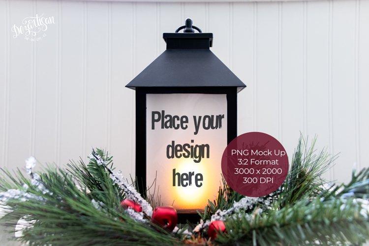 Christmas Lantern Mock Up
