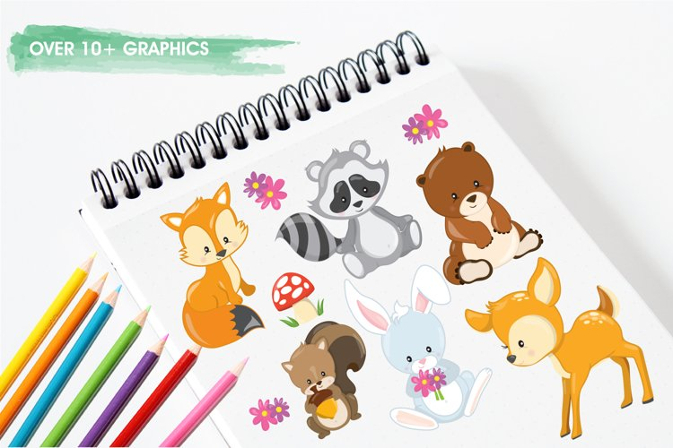 Woodland Animals graphics and illustrations - Free Design of The Week Design1