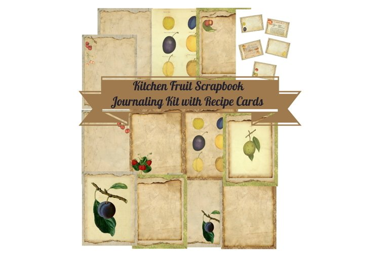 Kitchen Apples Journal Scrapbook Kit PDF example image 1