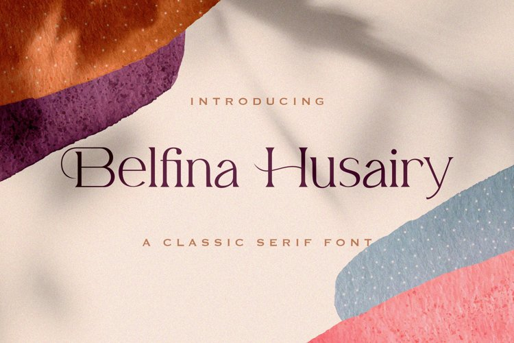 Belfina Husairy - Classic Serif Font example image 1