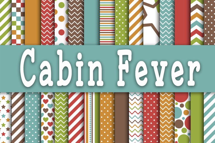 Cabin Fever Digital Papers - Free Design of The Week Font