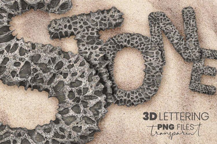 Porous Stone 3D Letters example image 1