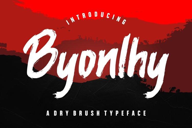 Byonlhy Dry Brush Typeface example image 1