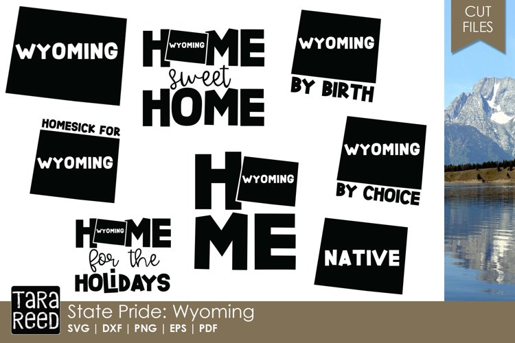 Wyoming SVG and Cut Files for Crafters example image 1