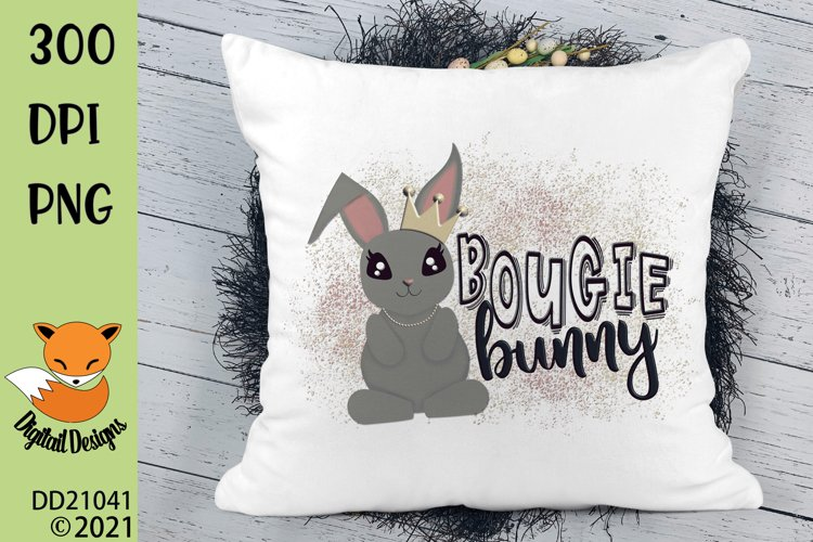 Bougie Bunny Easter Sublimation Design example image 1