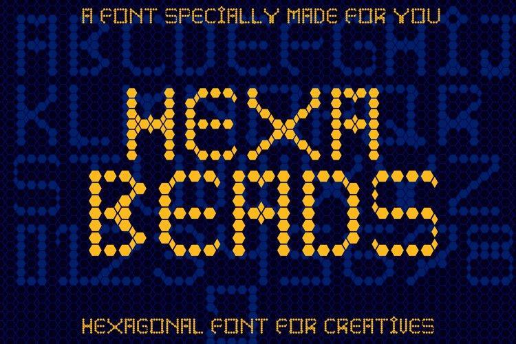Hexa beads - A Fun Pixel Font example image 1