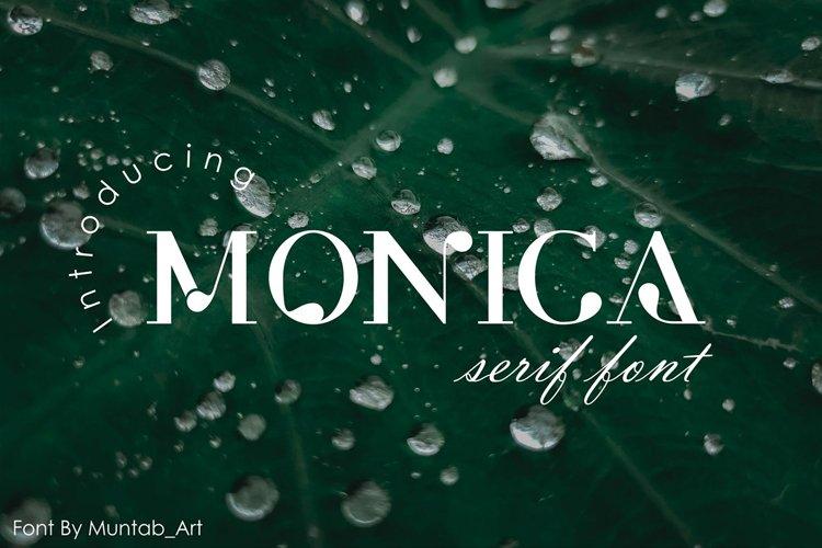 Monica | Modern Serif font example image 1