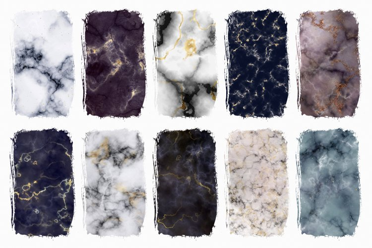 Marble Digital Papers - 10 Veined Marble Textures example 6