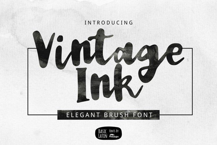 Vintage Ink Brush Font example image 1