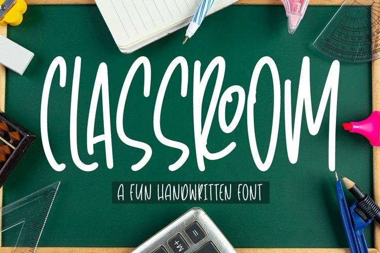 Web Font Classroom - Fun Handwritten Font example image 1