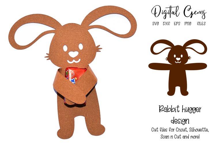 Rabbit sweet / candy / chocolate animal hugger design SVG