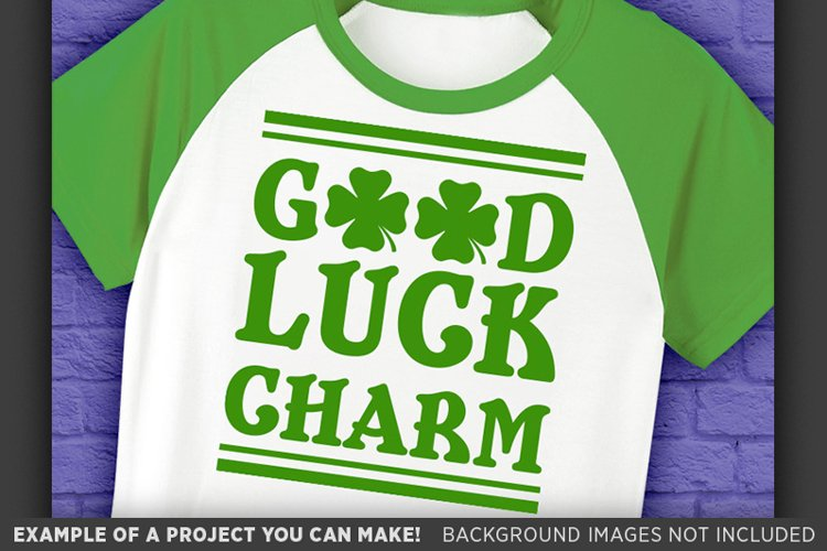 Good Luck Charm SVG - Kids St. Patricks Day - 1075 example image 1