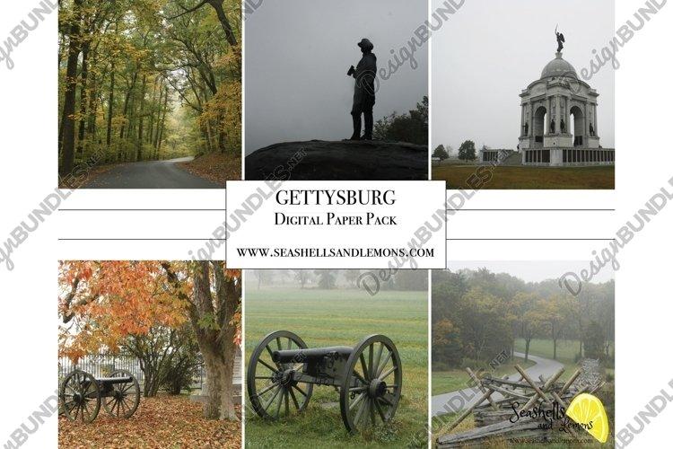 Gettysburg - Military - Foggy Landscape - Pennsylvania example image 1