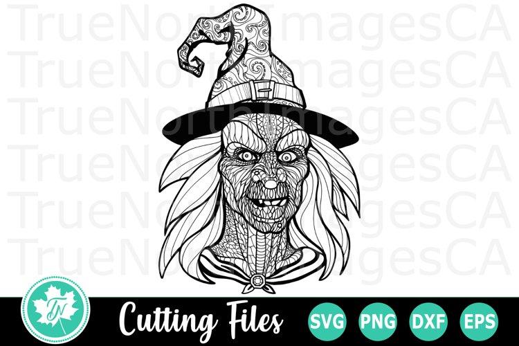 Zentangle Witch A Halloween Svg Cut File 199852 Cut Files Design Bundles