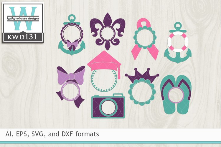 Monogram Frames SVG - Monogram Designs