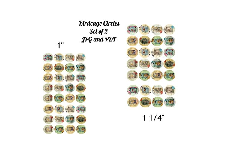 """Set of 2 Sheets 1"""" and 1 1/4"""" Vintage Birdcages Sheets example image 1"""