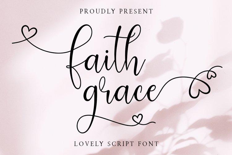 Faith Grace Lovely Script example image 1
