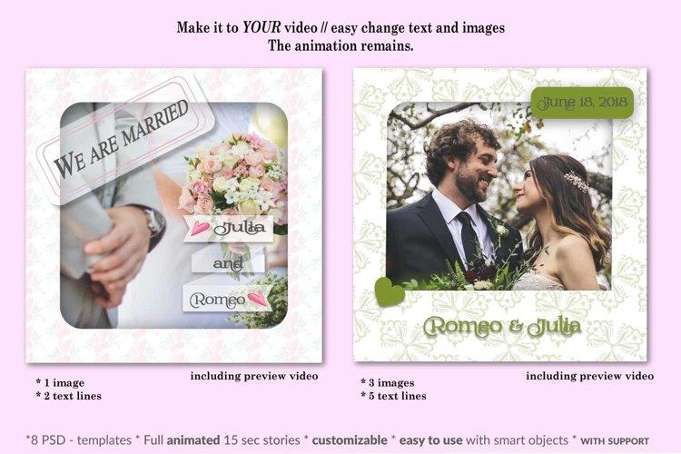 MOCKUP - Animated Instagram templates, Wedding, inc. custom example 2